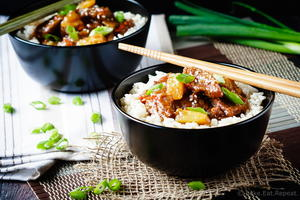 Spicy Mongolian Beef with Pineapple