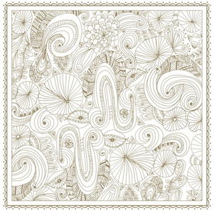Gold Flower Coloring Pages