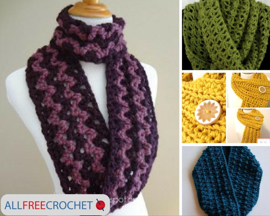 19 Quick And Easy Crochet Scarves Allfreecrochet