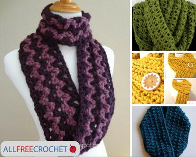 19 Quick and Easy Crochet Scarves | AllFreeCrochet.com