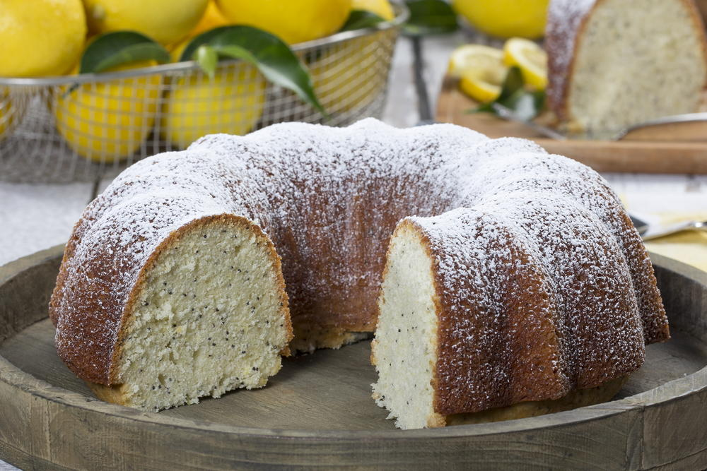 Diabetic Lemon Poppy Seed Cake