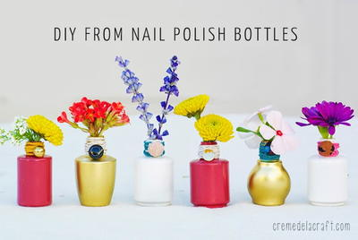 Nail Polish Bottle Centerpiece