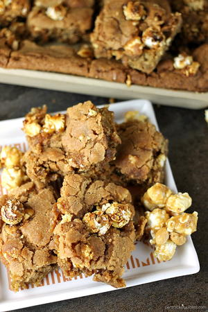 Popcorn Crunch Cookie Bars