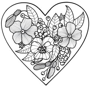 All My Love Adult Coloring Page This Would Be A Great Addition To Homemade Valentines Day Card