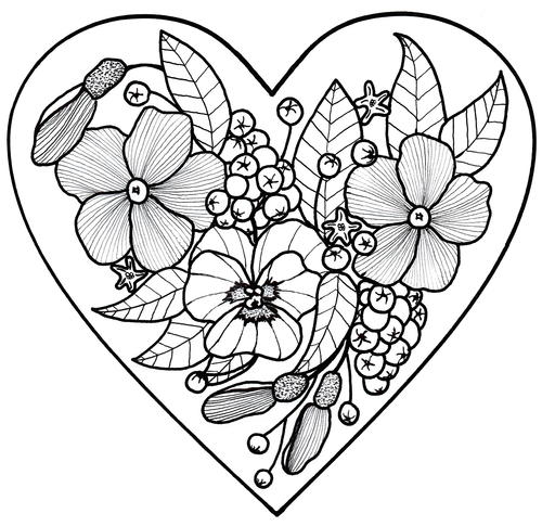 All My Love Adult Coloring Page   FaveCrafts.com