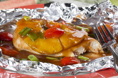 Tropical BBQ Chicken Packets