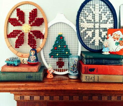 Tennis Racket Oversized Cross Stitch Design