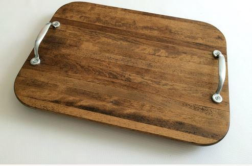 Rustic Upcycled DIY Serving Tray | DIYIdeaCenter.com