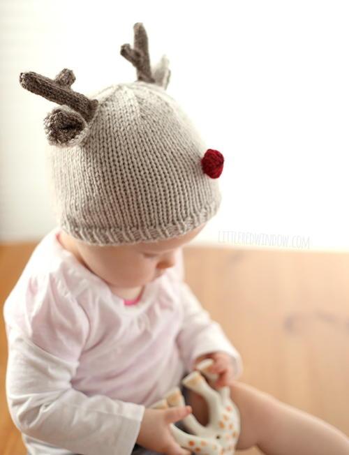 Tiny Reindeer Hat Knitting Pattern Allfreeknitting