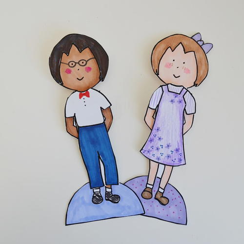 Unisex printable paper doll template for Large paper doll template