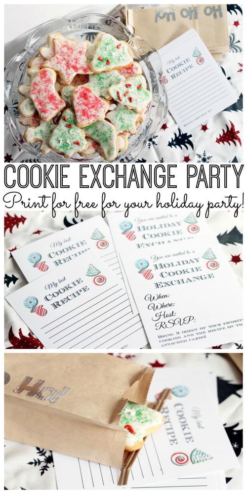 Cookie Exchange Party Free Printables Favecrafts Com