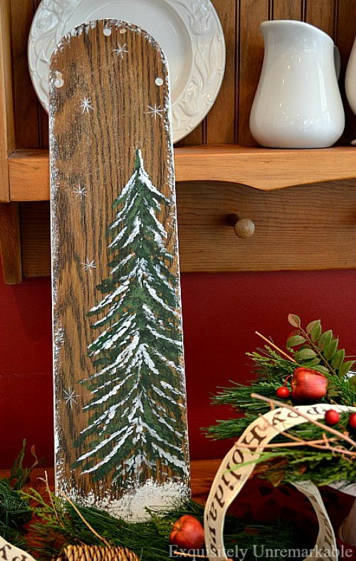 Recycled ceiling fan blade christmas art allfreeholidaycrafts recycled ceiling fan blade christmas art aloadofball Image collections