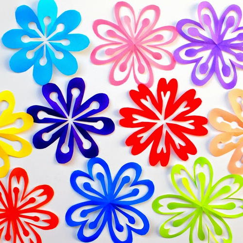 Kirigami Paper Flowers for Kids