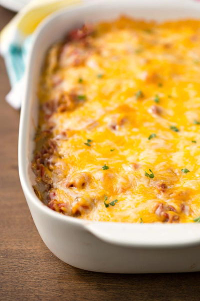 Make-Ahead Mexican Breakfast Bake
