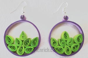 Hip Hoop Quilled Paper Earrings