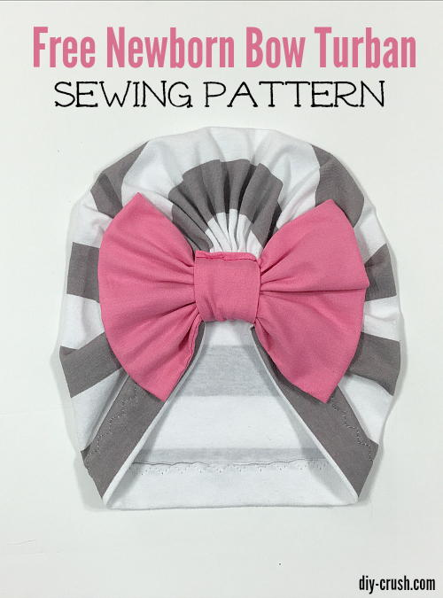 Baby Bow Turban Beanie Sewing Pattern | AllFreeSewing.com