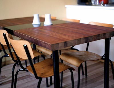 DIY Wood Table from Old Door Craft