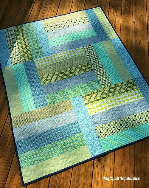 Afternoon Tango Baby Quilt Tutorial | FaveQuilts.com : baby quilt for beginners - Adamdwight.com