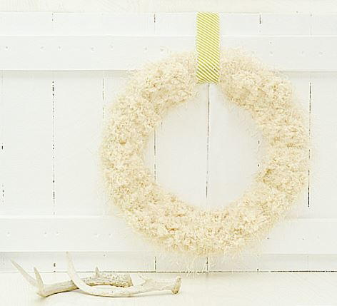 Anthropologie Knockoff Tufted Wool Wreath