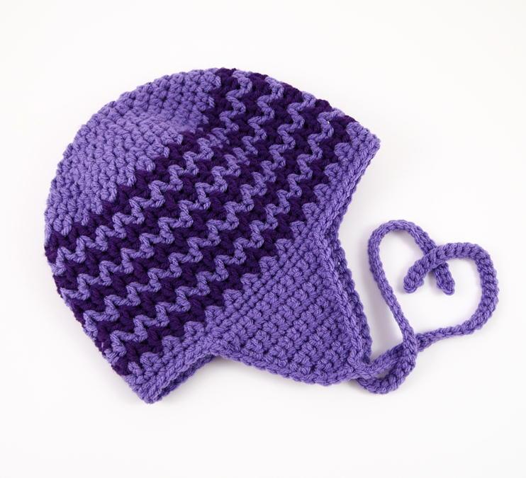Zigzag Earflap Crochet Hat | AllFreeCrochet.com