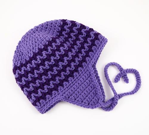 Zigzag Earflap Crochet Hat Allfreecrochet