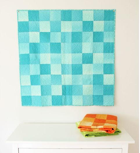 One Day Ombre Baby Quilt Tutorial