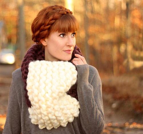 Easy Jumbo Cowl Knitting Pattern Allfreeknitting