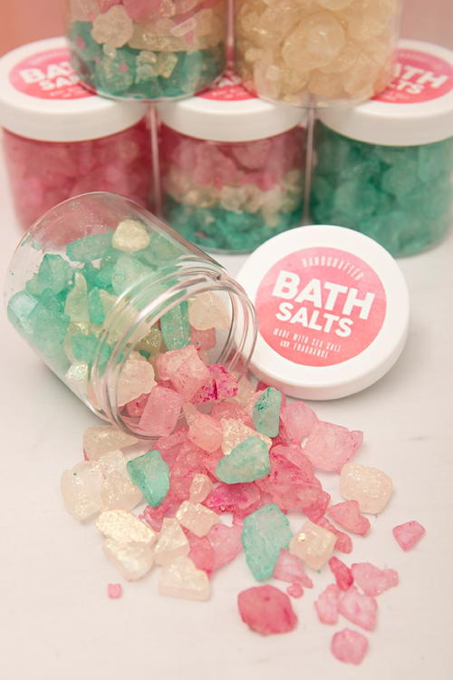 Sparkling Bath Crystal Favors