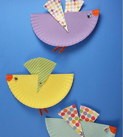 Flying Bird Paper Plate Art & Flying Bird Paper Plate Art | AllFreePaperCrafts.com