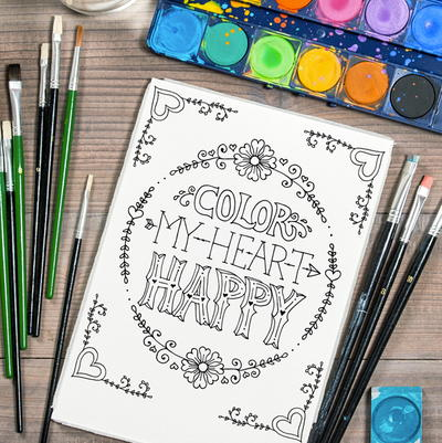 Messages Of Love Valentines Day Coloring Pages