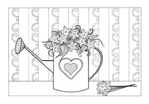 Spring Flowers Adult Coloring Page