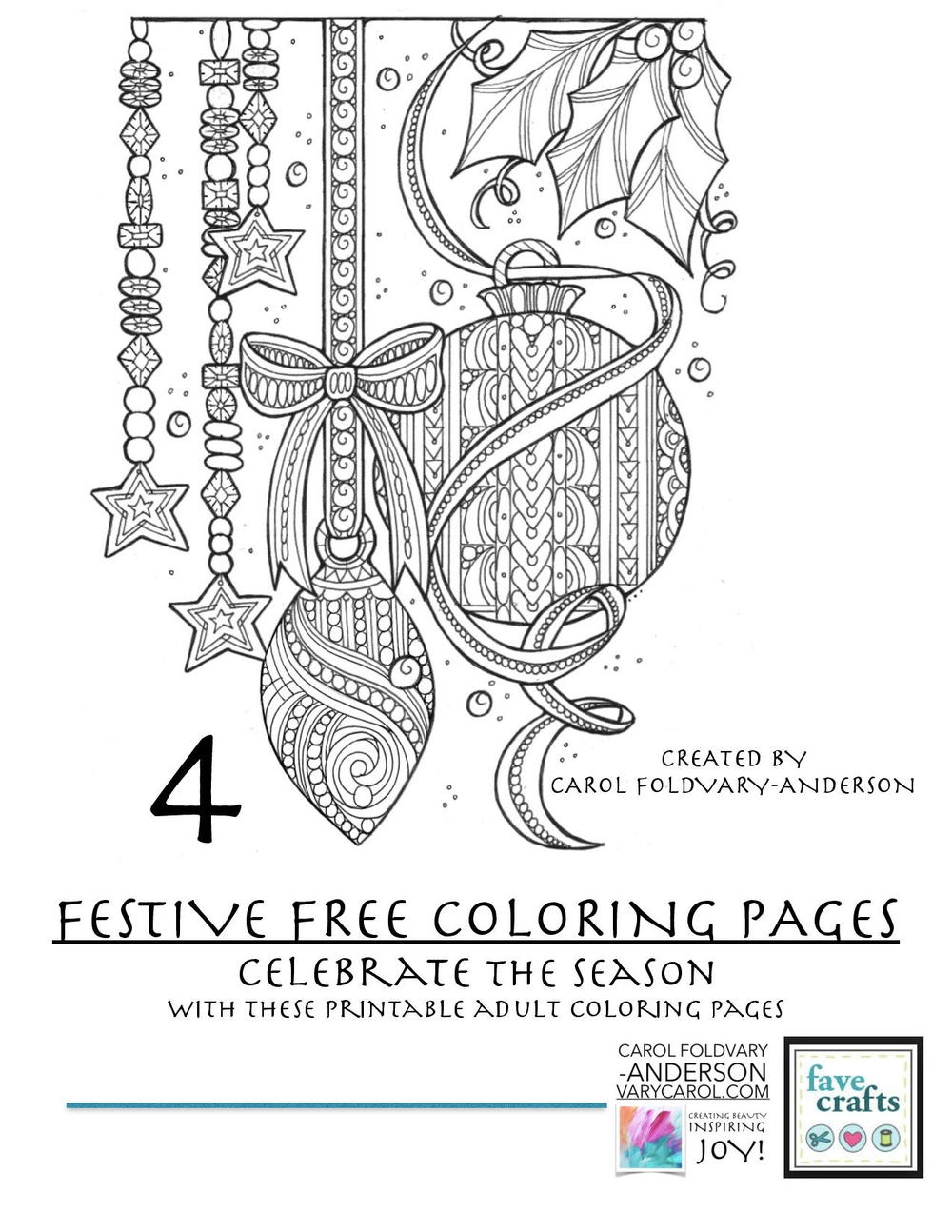 4 festive free holiday coloring pages for adults pdf favecraftscom