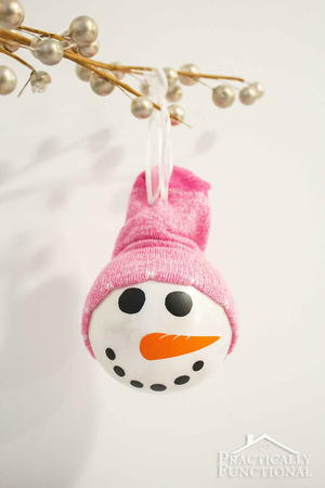 Cute Snowman Homemade Ornaments