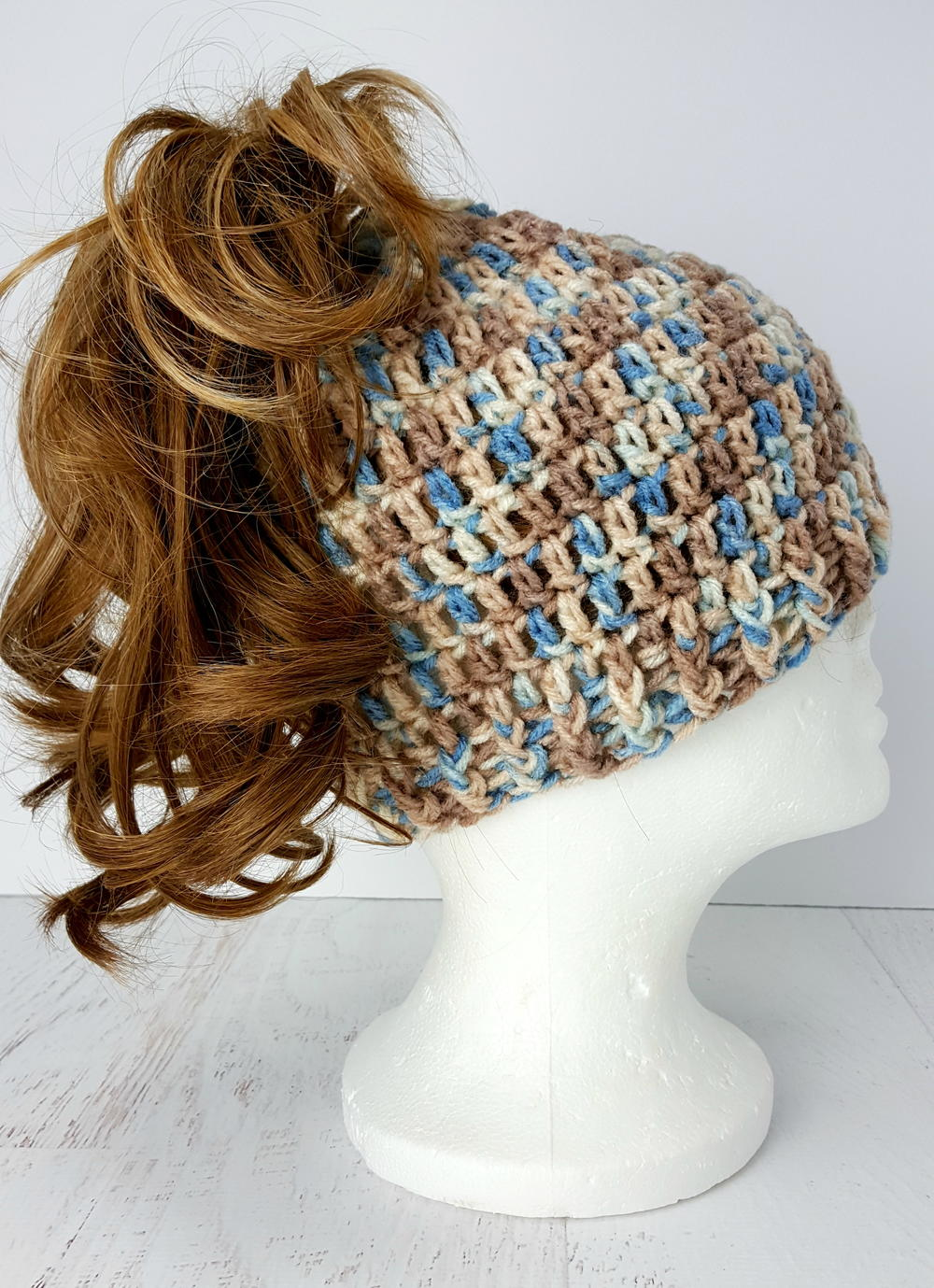 Free Crochet Hat Pattern With Ponytail Hole Cool Design Inspiration