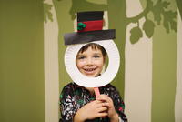 Adorable Snowman Paper Plate Craft