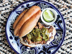 Black Bean and Poblano Chile Torta