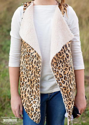 Girl's Faux Shearling Vest Pattern