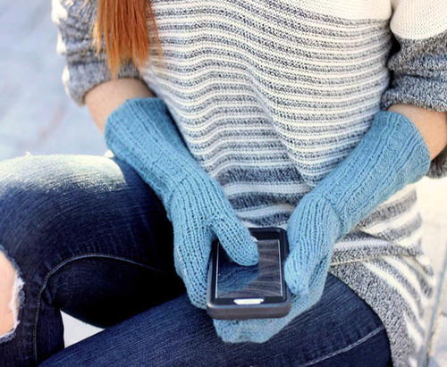 Touchscreen Knit Mittens