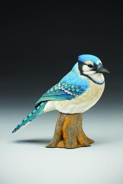 East meets west carving the eastern blue jay wildfowl