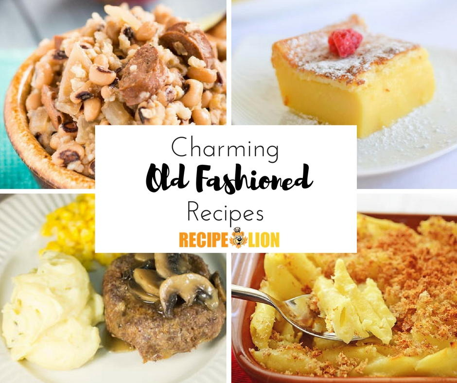 Old fashioned cooking recipe