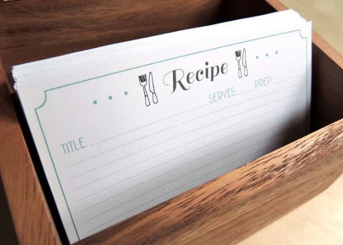 Free Printable Recipe Card Template   DIYIdeaCenter.com