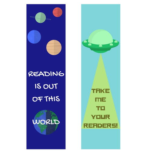 Out of This World Printable Bookmarks