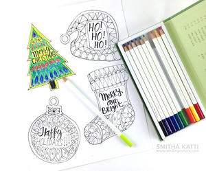 Christmas gift tags free printable personalized coloring