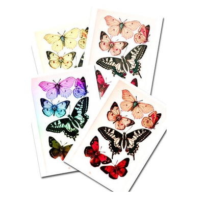Printable Butterflies in Four Color Schemes