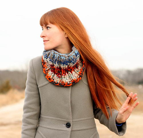 Stash Busting Cowl Knitting Pattern