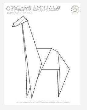 origami giraffe coloring page favecrafts com rh favecrafts com