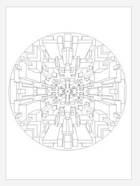 3D Square Mandala Coloring Page Take A Trip To The Future With This Geographic These Floating Blocks Will Come Life Motion