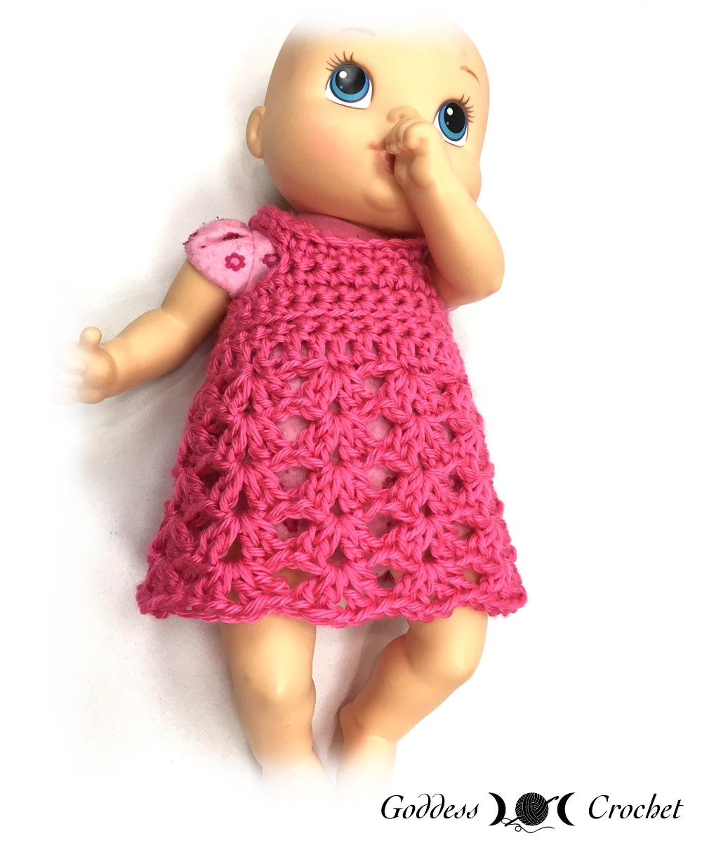 26 crochet doll patterns clothing and accessories baby doll dress dt1010fo