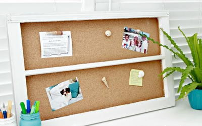 Inexpensive Upcycled DIY Cork Board
