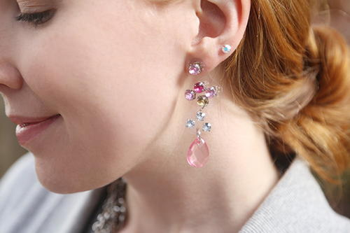 Floating Illusion Crystal Earrings